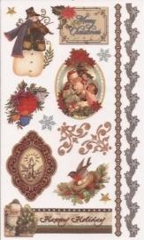 Kerst Victoriaanse Nostalgie 6 Rub on afschrijfplaatjes