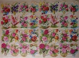 3154 EAS Dubbel Vel Kleine bloemmandjes Poezieplaatjes