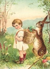 Paashaas helpt eieren zoeken Reliefkaart EF 3019