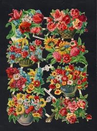 AFKH 28 bloemen mandjes poezieplaatjes