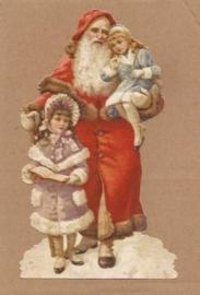 Nostalgische kindjes bij Kerstman poezieplaatjes 5147