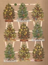 Kleine Kerstboompjes poezieplaatjes 7396