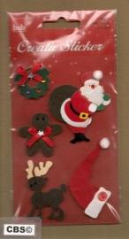 Kerststickers met glinsters en Kerstkrans