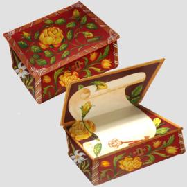 Bloemen Boxes kaart: Roosjes met narcis [EC-2251]