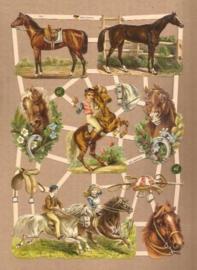 Paard rijden en paarden poezieplaatjes 7401