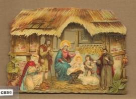De Wijzen aanbidden het Kindeke poezieplaatjes 5066