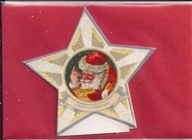 Mini geschenk kaart Kerst in ster: Kerst nieuws [XG-3135]