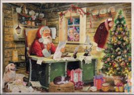 10442 Meisjes gluren naar Kerstman Adventskalender