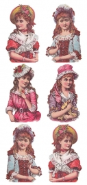 Dames in de dop poezieplaatjes Stickers Y144