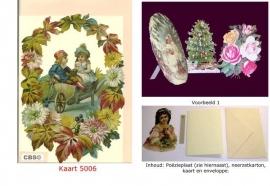 Sierkaart 5006: Herfstkrans met kinderen Poezieplaatjes