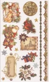 Kerst Victoriaanse Nostalgie 4 Rub on afschrijfplaatjes
