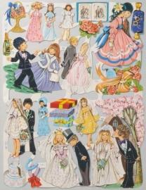 Bruiloft: Plechtigheid & Feest poezieplaatjes 1525 & 1526