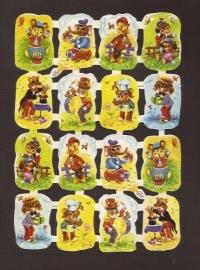 Kruger 98/124 Speelse dieren klein poezieplaatjes