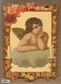 Schilderij Engel op wolk poezieplaat 7203