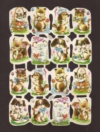 Kruger 98/126 Vrolijke dieren klein poezieplaatjes