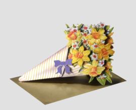 3D Boeket bloemen kaart: Narcissen [EC-5004]