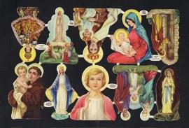 M.P. 900 Religie - Heiligen poezieplaatjes