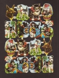 Kruger 98/133 Kleine hondjes en katjes poezieplaatjes