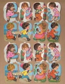 Kruger 171/277 Kindjes spelen buiten poezieplaatjes