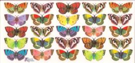Kleine felgekleurde vlindertjes poezieplaatjes Stickers C68