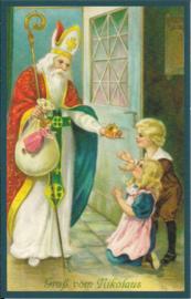 Dank u, Sinterklaasje! prentbriefkaart [SV W224]