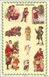 Poezieplaatjes Kerst stickers prentbriefkaart 853226