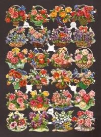3156 EAS Bloemenmandjes oude poëzieplaatjes