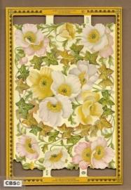 Eén en al bloemen poezieplaatjes A 134 *
