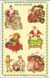 Poezieplaatjes Kerst stickers prentbriefkaart 853227