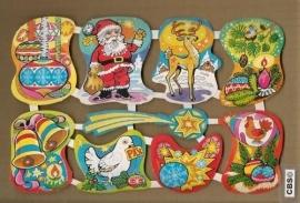 Maves Loroño groot Spaanse poezieplaatjes Kerst Versiering