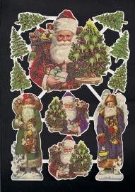 Kerstmannen Kerst Deense poezieplaatjes