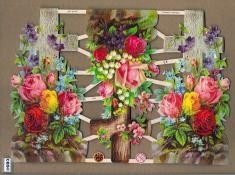 Kruis - Kruizen met bloemen Groot Poëzie Plaatjes 7308