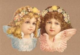 Engeltjes met bloemhaarbandjes poezieplaatjes 5172