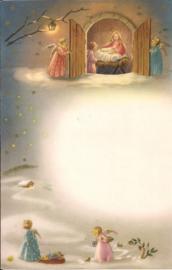 Wensbrief: Engeltjes bij Kindje Jezus 351
