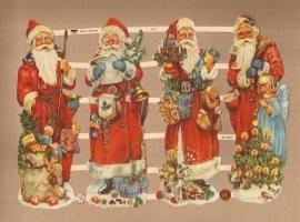 Kerstmannen met Engeltje poezieplaatjes 7377