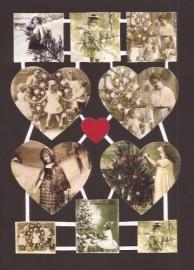 Nostalgische We vieren kerst! hartje poëzieplaatjes