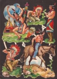 PZB 1309 Indianen oude poezieplaatjes