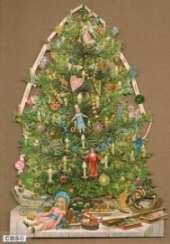 Super versierde Kerstboom Poëzie Plaat 7195