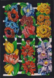 Langwerpige bloemen poezieplaatjes Glitter MLP 1318