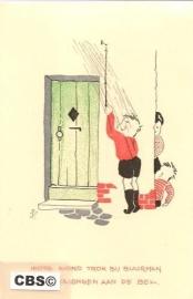 Ied're avond trok bij buurman - oude kinderkaart [10253]