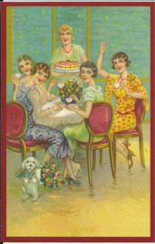Dames High tea prentbriefkaart [SV G075]