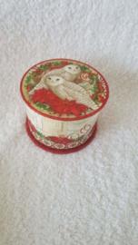 Kerststerren met uilen - doosje met zeep