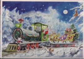 10438 Kerstman met trein vol geschenken Adventskalender