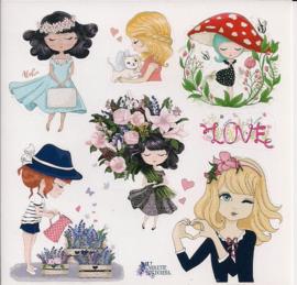 Meisjes poezieplaatjes Stickers K67