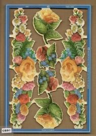 Boeketten met rozen poezieplaatjes MLP 1982