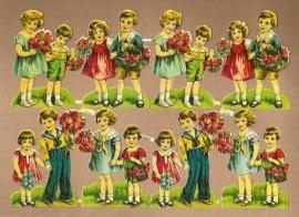 PZB 1133 A Kindjes met bloemen poezieplaatjes