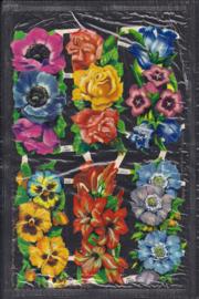 Langwerpige bloemen poezieplaatjes Glitter Cellozakje MLP 1297