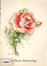 Rode Roos (vHB) - oude Krüger kaart poezieplaatjes Frankie [10231]