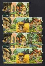 M.P. 800 Landschapjes poezieplaatjes (A) NIET compleet
