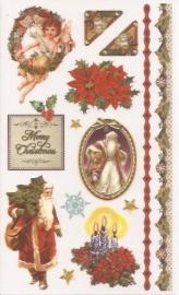 Kerst Victoriaanse Nostalgie 11 Rub on afschrijfplaatjes